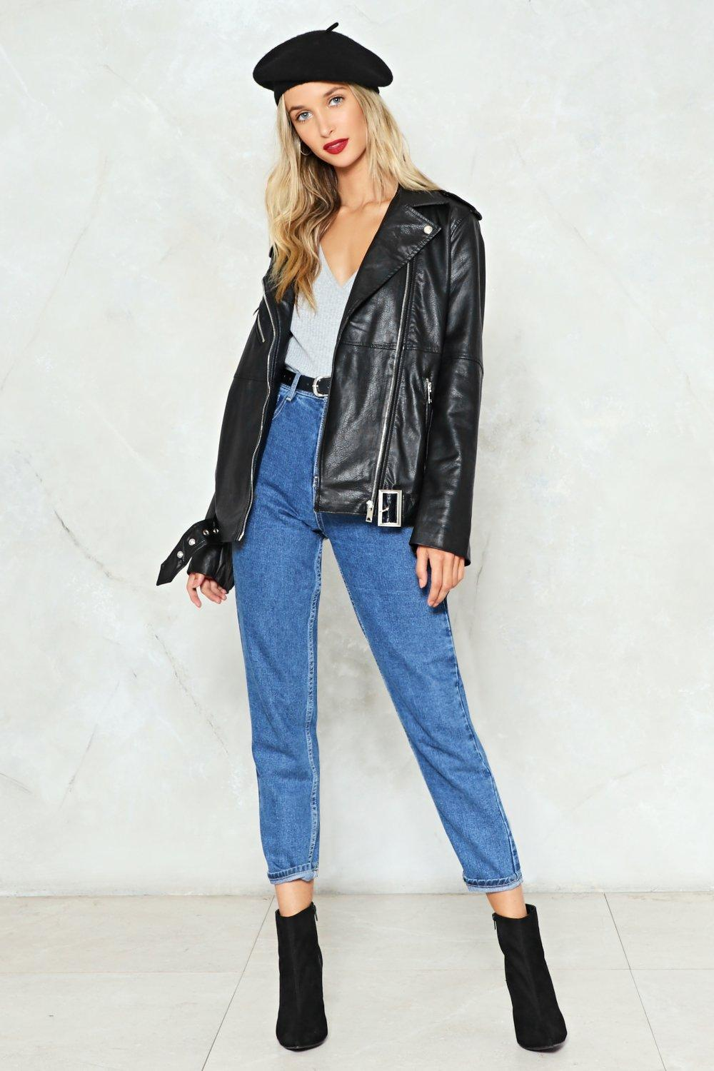 Eye of the Tiger Faux Leather Moto Jacket   Shop Clothes at Nasty Gal!