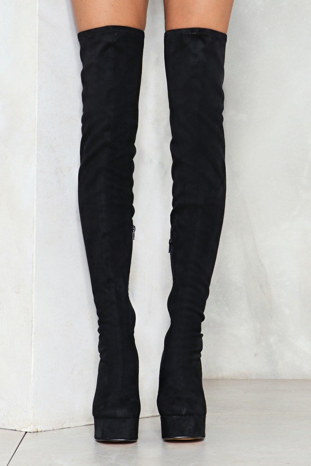 fe94f8d309 Block Out the Haters Thigh-High Boot | Shop Clothes at Nasty Gal!