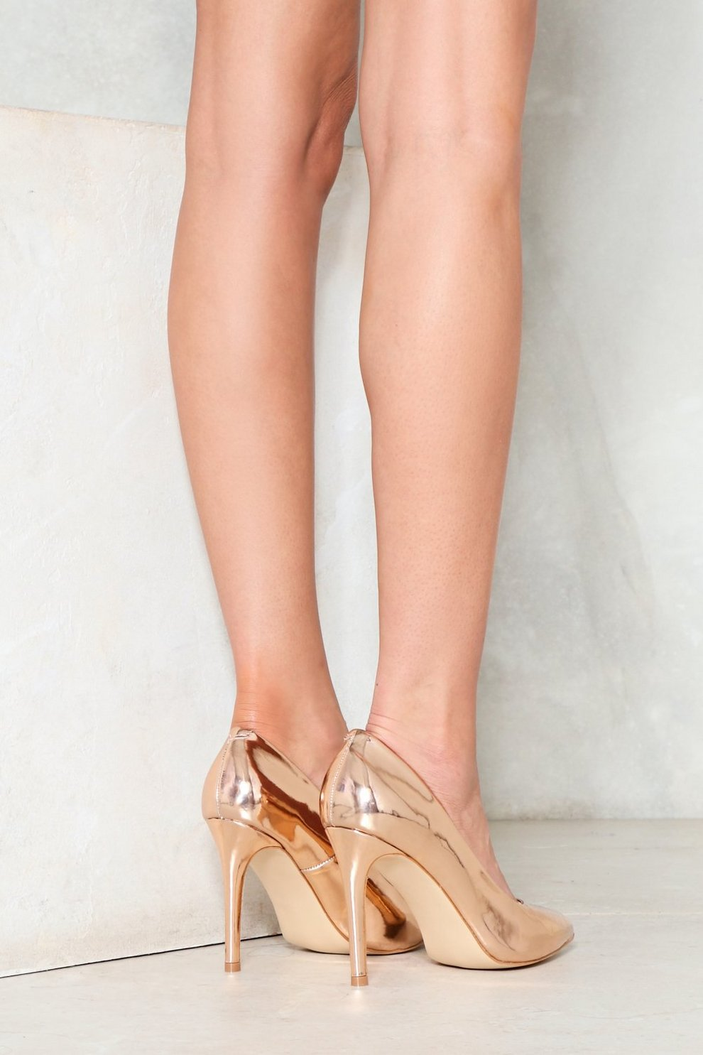 d5efb82cda5 Living the Gleam Wide Fit Metallic Heel   Shop Clothes at Nasty Gal!