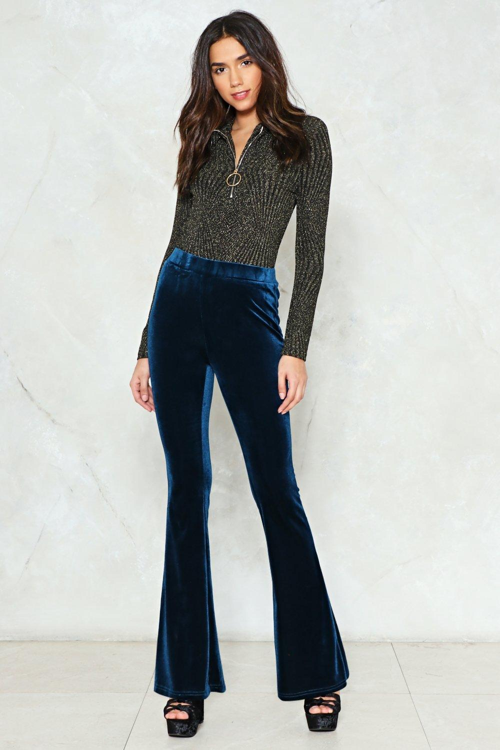 outlet for sale latest selection check out See If I Flare Velvet Pants | Shop Clothes at Nasty Gal!
