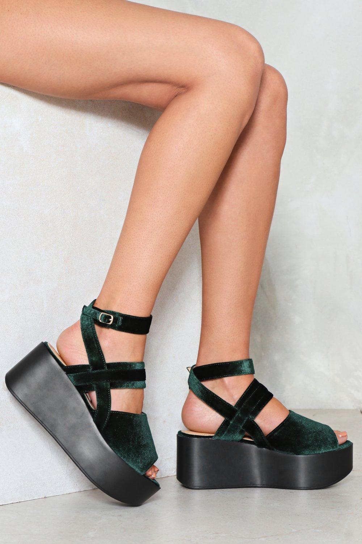 c9f120aab5ee Take a Peep Velvet Platform Sandal