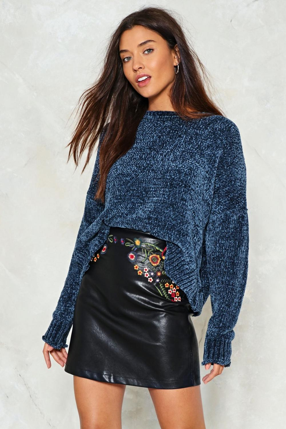 in the green vegan leather skirt   shop clothes at nasty gal!