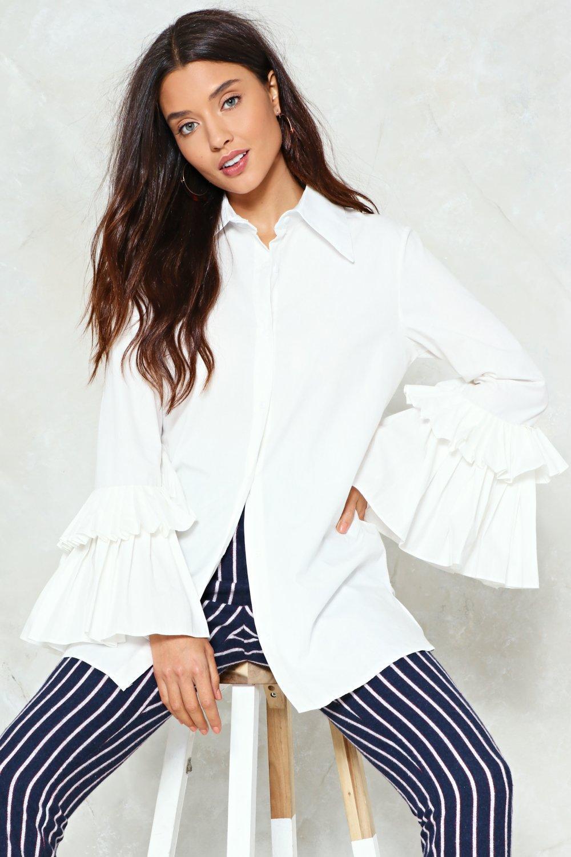 0d06dc7206ff Oh Yes Pleat Longline Shirt