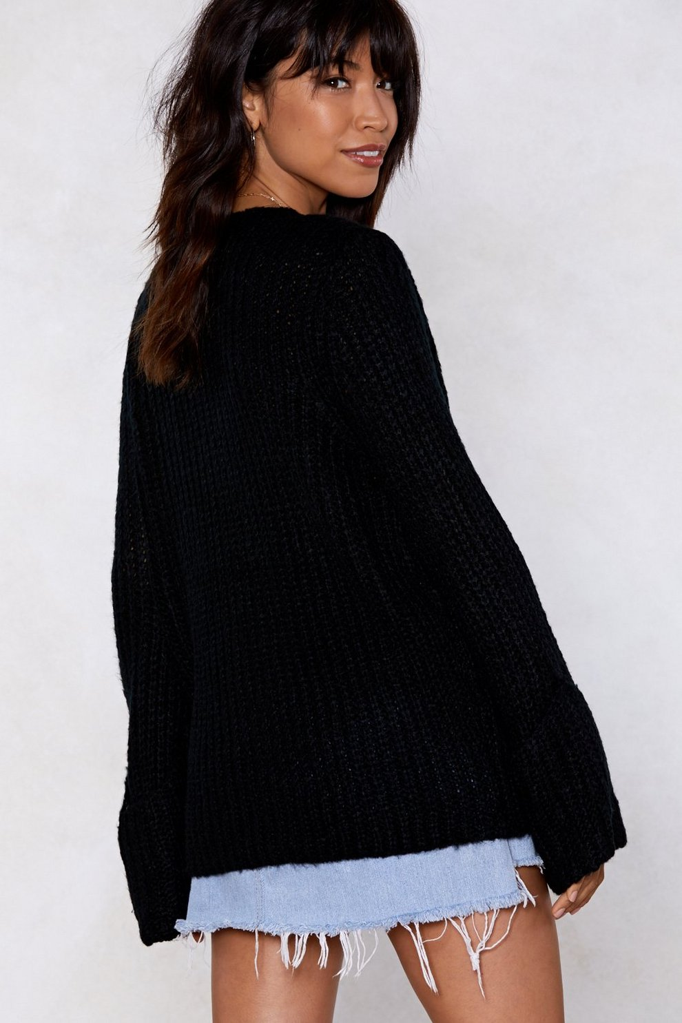 Knit Flix And Chill Off The Shoulder Sweater Shop Clothes At Nasty