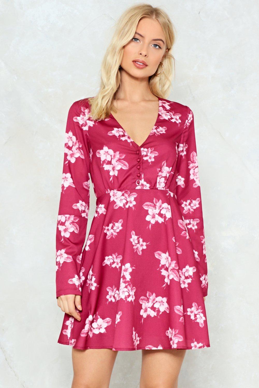 033550055115 Spill the Tea Floral Dress