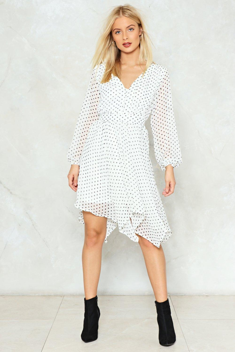 89d3cf75249a Is It Dot in Here Polka Dot Midi Dress