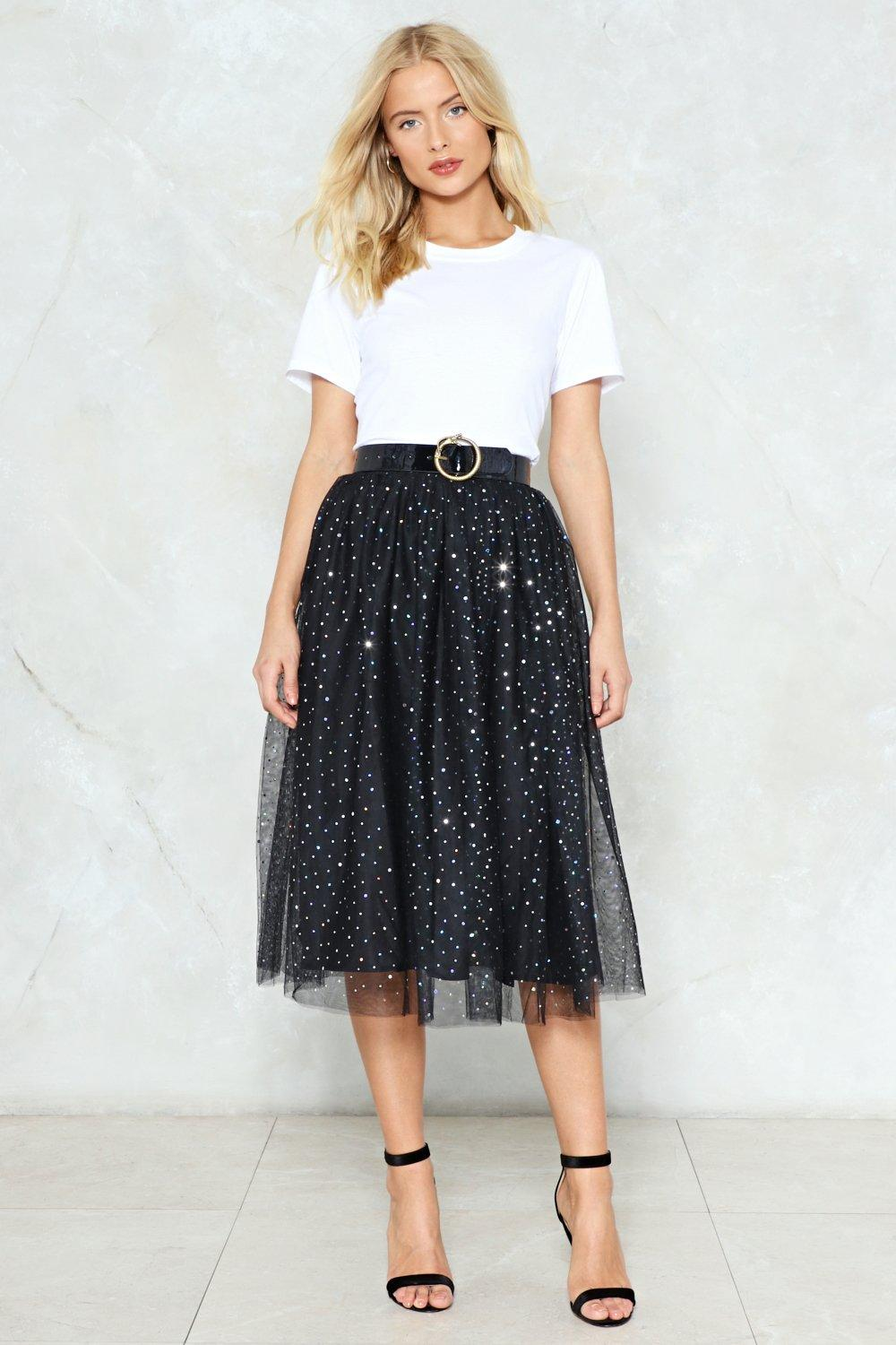 358154bdfd Rise and Sparkle Sequin Tulle Skirt | Shop Clothes at Nasty Gal!
