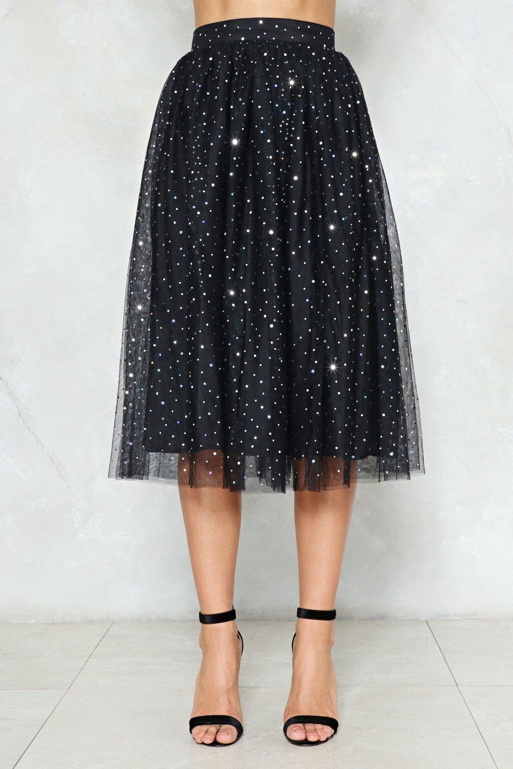 f01c815f0 Rise and Sparkle Sequin Tulle Skirt