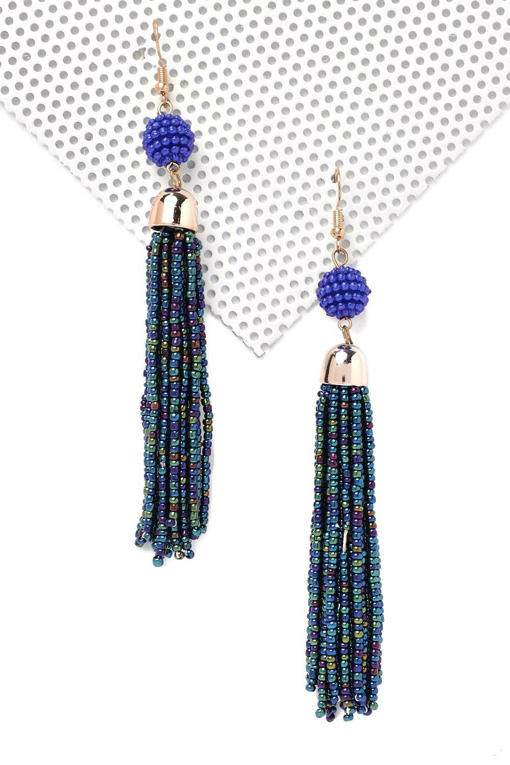 Drop in Tassel Earrings   Shop Clothes at Nasty Gal!