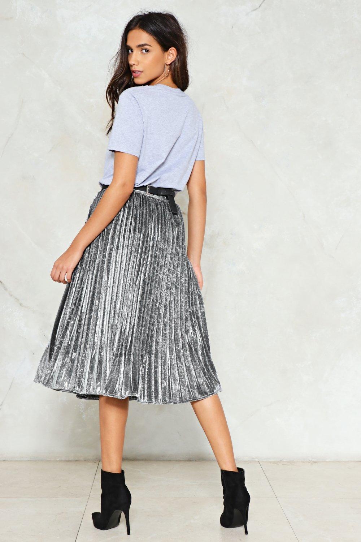 da445cb925 Come-Pleat Control Metallic Skirt | Shop Clothes at Nasty Gal!