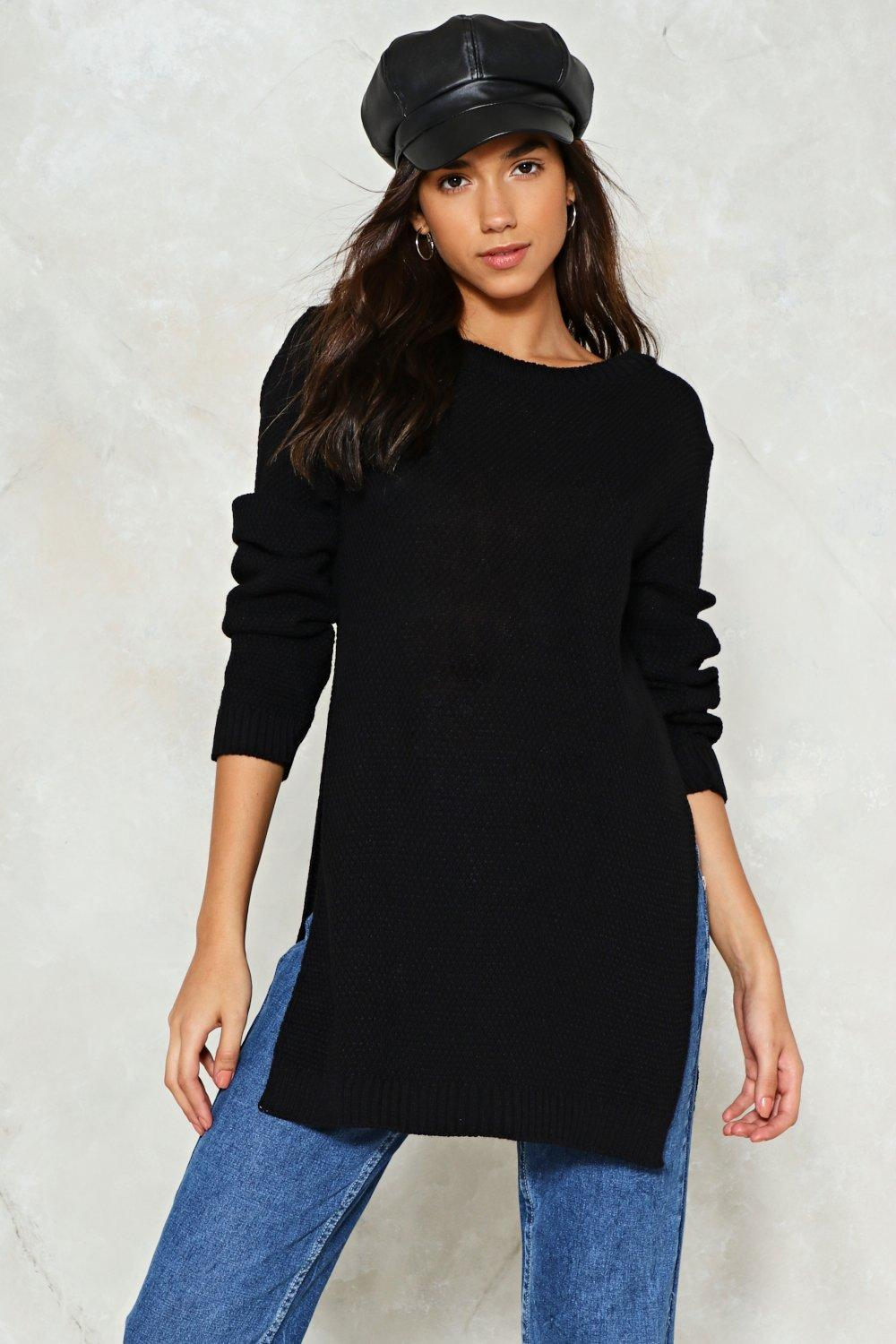 308119da6 It s Knit Up to You Slit Sweater