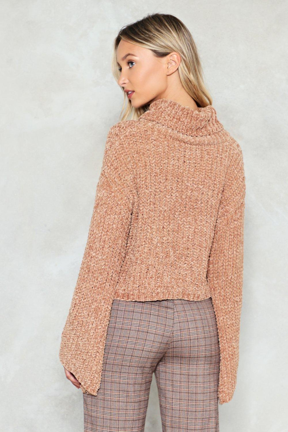 8feebea30 Womens Camel Knit Guilty Chenille Sweater. Hover to zoom