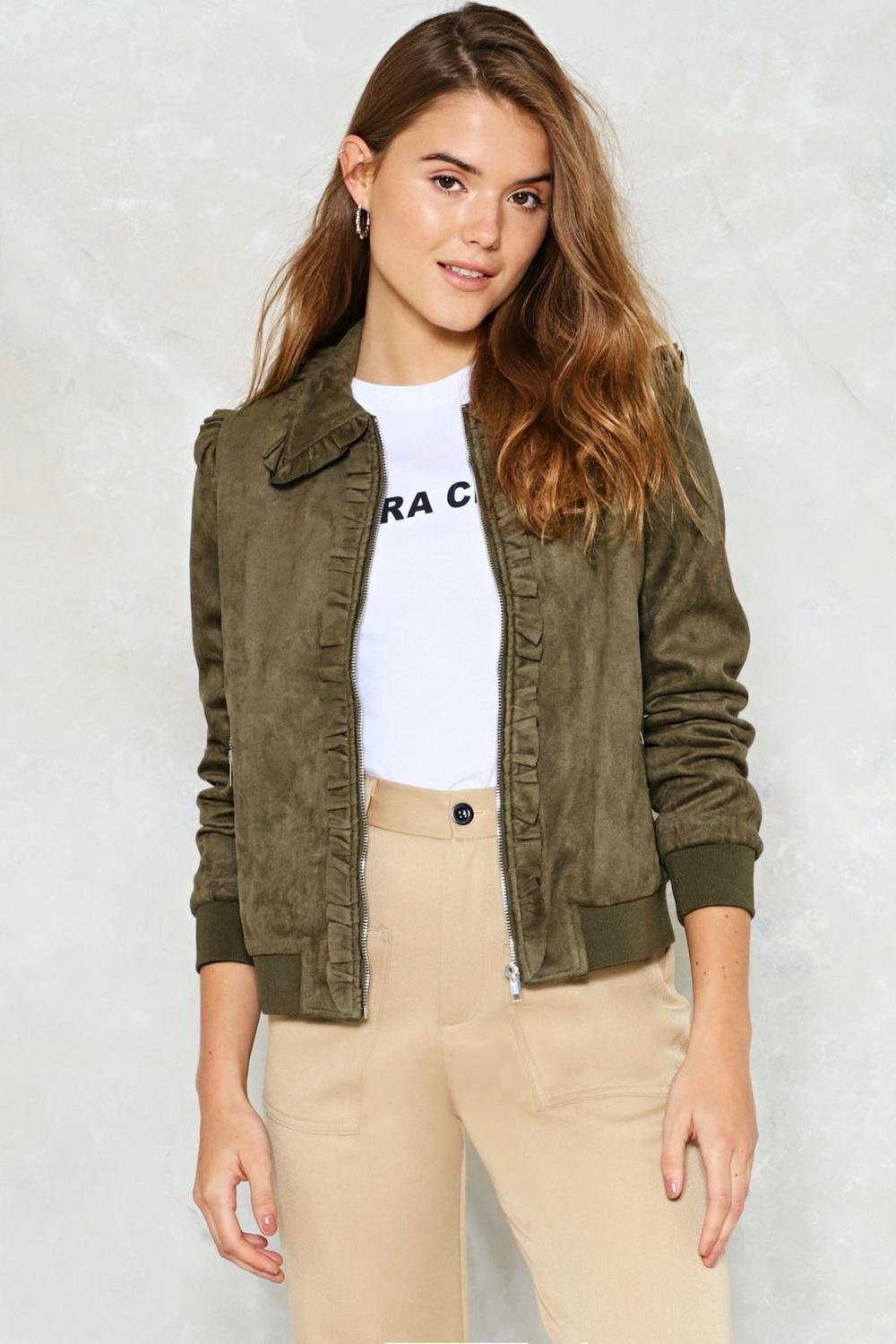 5e5506503a3 What a Thrill Faux Suede Jacket