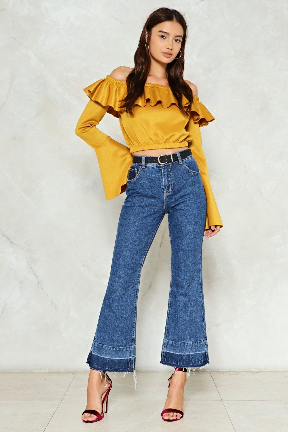 ecd2b0ddb9a380 Just Letting My Hem Down Flare Jeans | Shop Clothes at Nasty Gal!