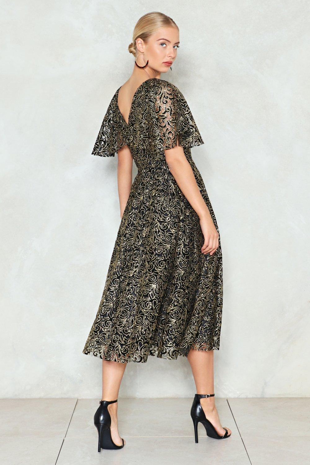 b518ff78 Cape Going Glitter Dress   Shop Clothes at Nasty Gal!