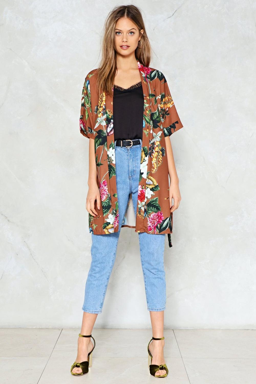 lazy summer floral kimono shop clothes at nasty gal