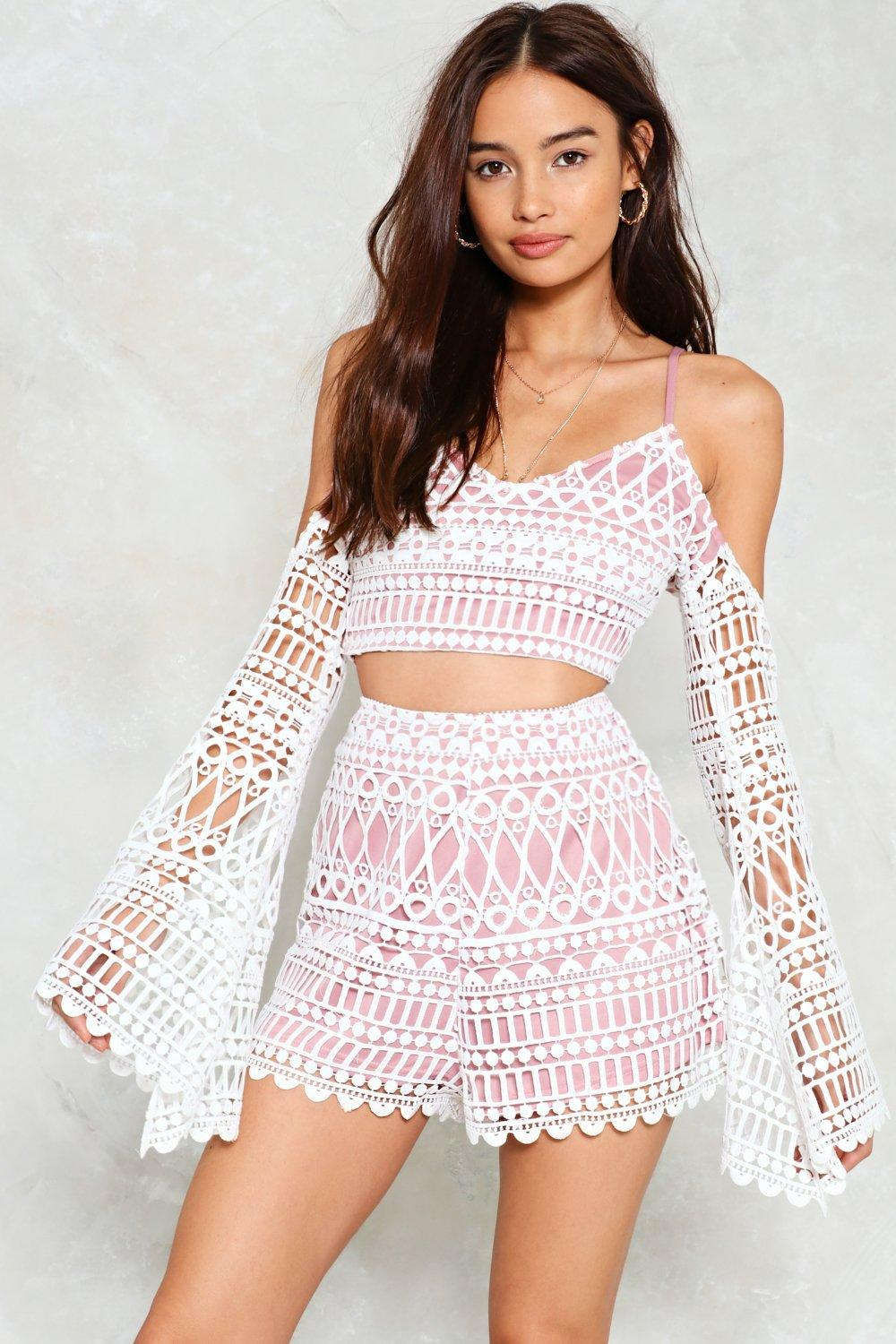 a8c42857980 Lover Undercover Crochet Top and Shorts Set | Shop Clothes at Nasty Gal!