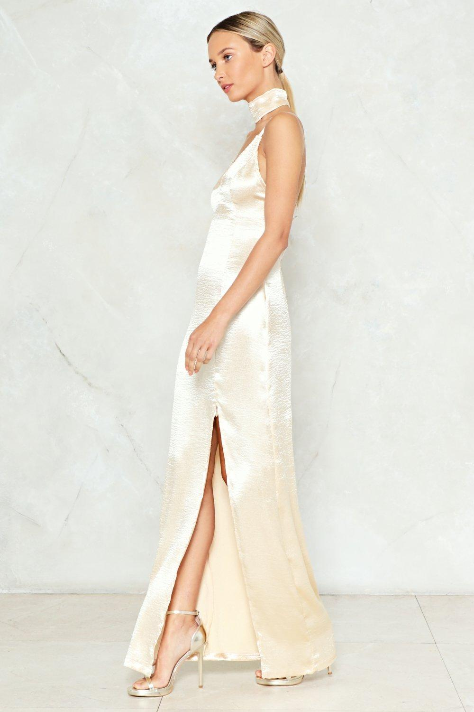 6b95c6b204d Womens Gold Sleek Havoc Satin Dress