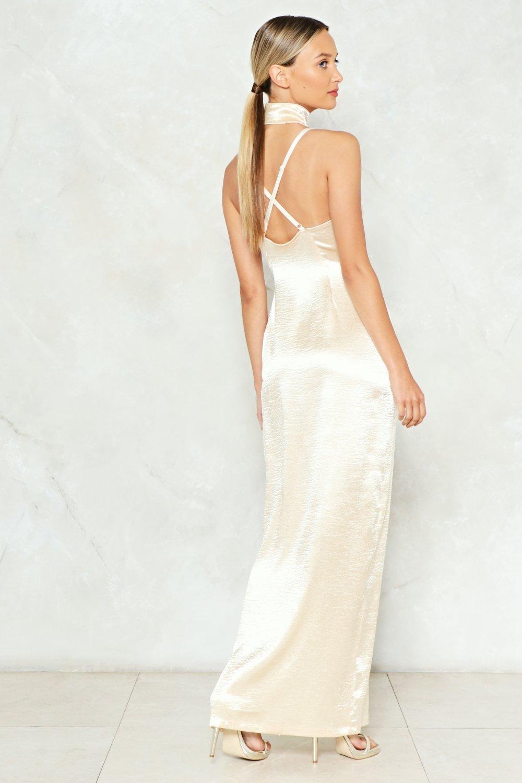 73339154524 Womens Gold Sleek Havoc Satin Dress.