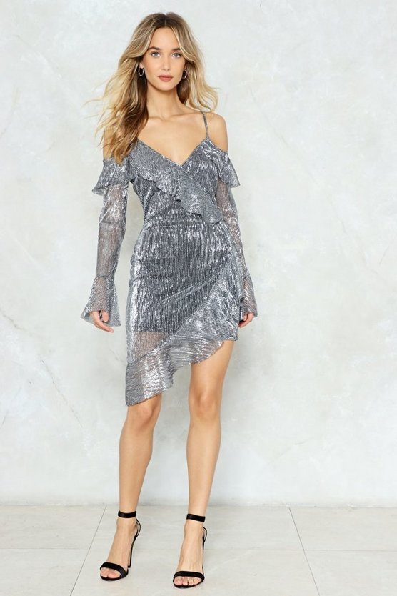 total-eclipse-of-the-heart-metallic-wrap-dress by nasty-gal