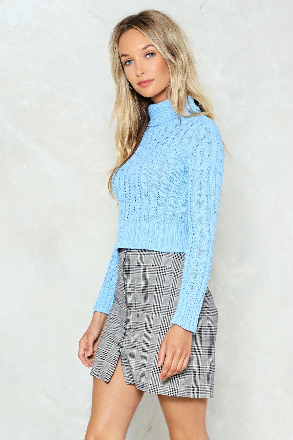 Knits My Life Cropped Sweater Shop Clothes At Nasty Gal