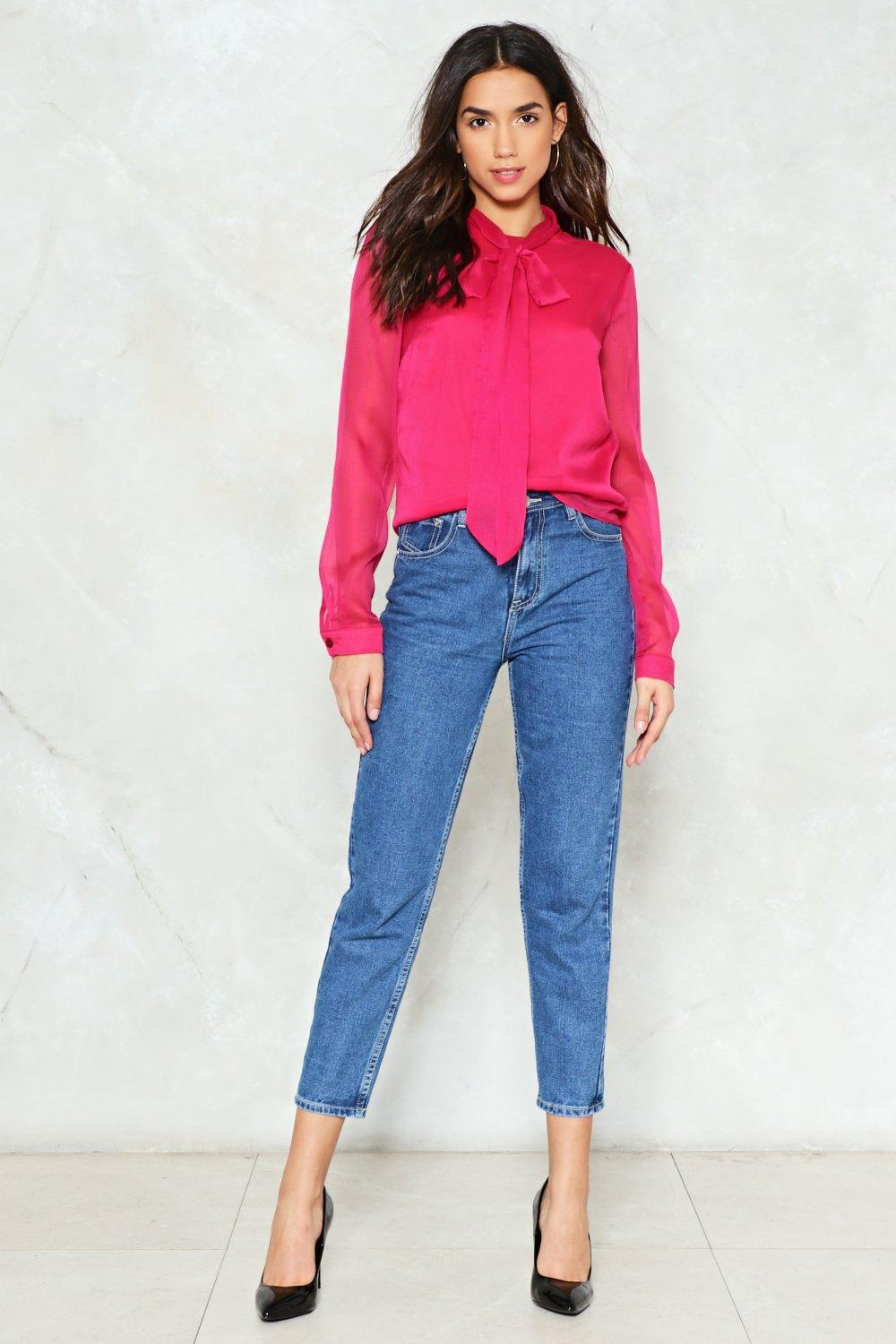 Don T Bow It Pussybow Blouse Shop Clothes At Nasty Gal