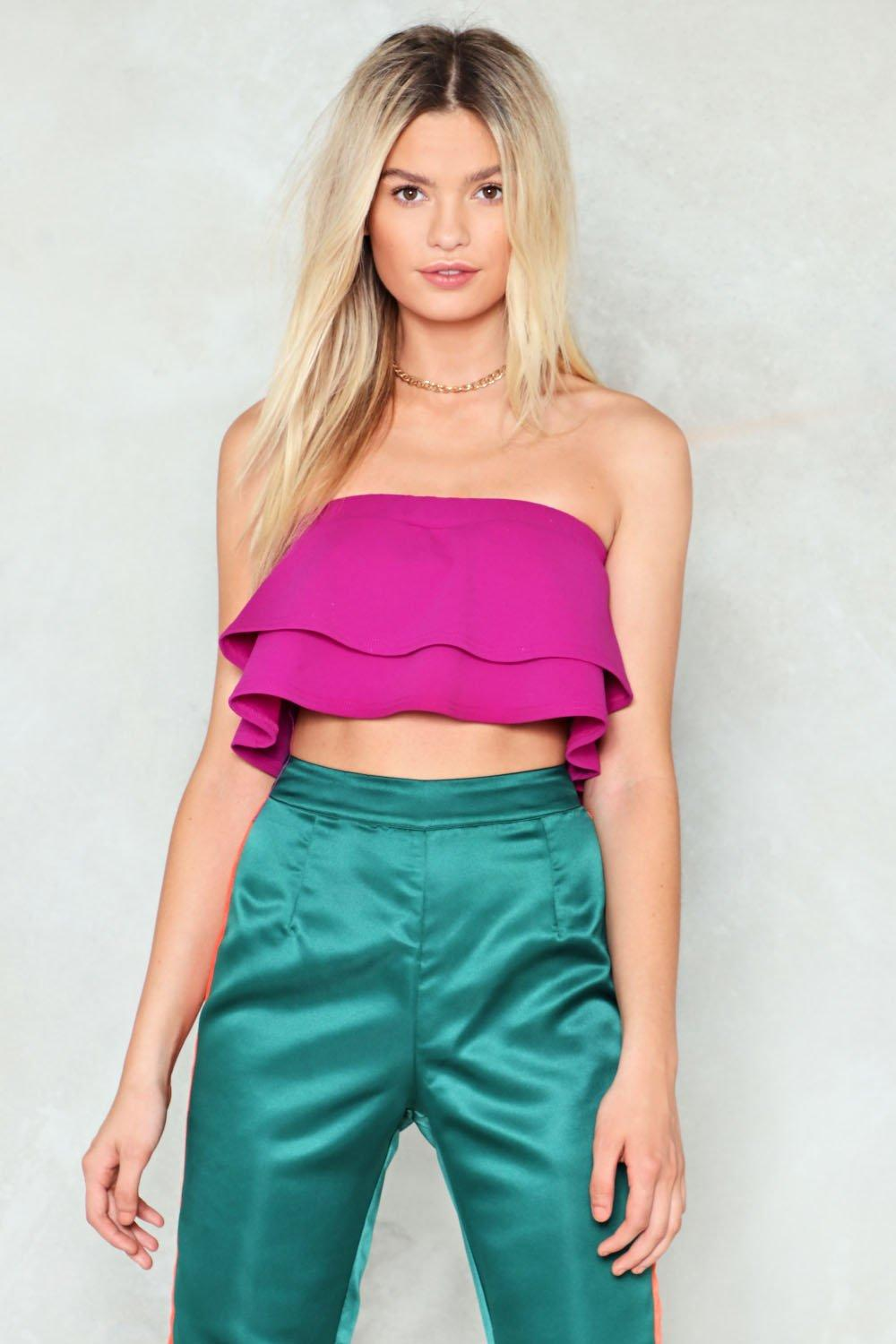 6d39c455c54d In Your Prime Ruffle Crop Top | Shop Clothes at Nasty Gal!