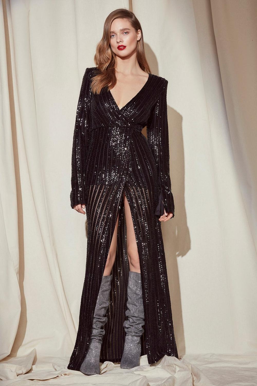 381145a2f775f Nasty Gal Studio Diana Sequin Maxi Dress
