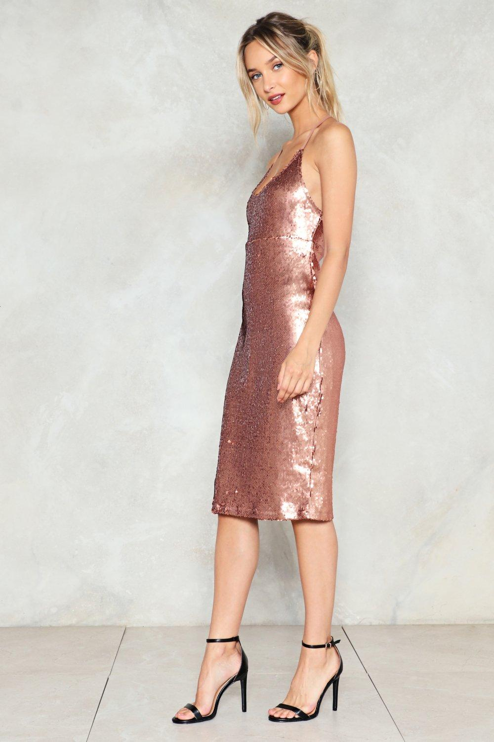 111b1252dde3 Sequin Good Times Only Midi Dress | Shop Clothes at Nasty Gal!