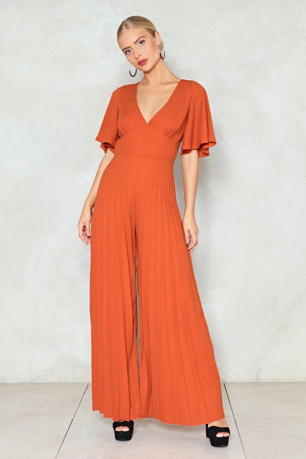 fad39fe729d Wide Open Pleated Jumpsuit