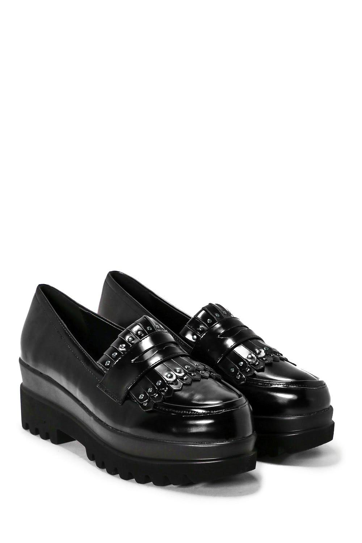 3cd61d1b71f Dropout Faux Leather Platform Loafer