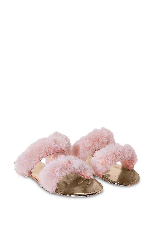 16c37c2635de May the Fur Be With You Faux Fur Sandal