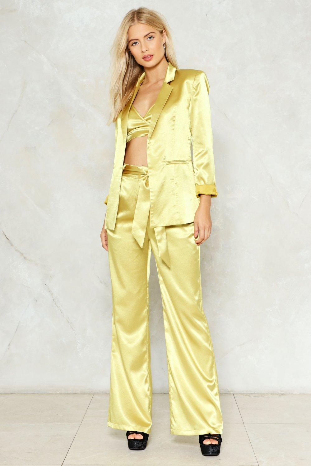 a33a5c078a6 Independent Women Satin Blazer. Hover to zoom
