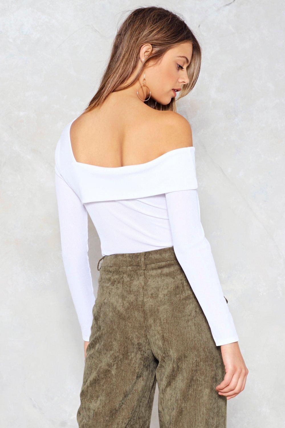ae63eee765 Gimme  Your Best Off-the-Shoulder Bodysuit