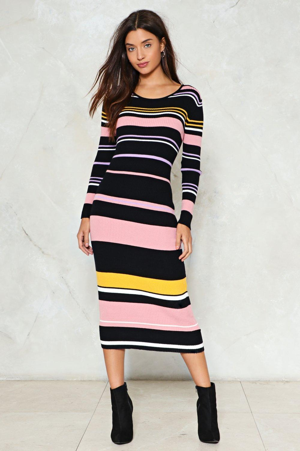 It s Knit You It s Me Striped Dress  d074516552