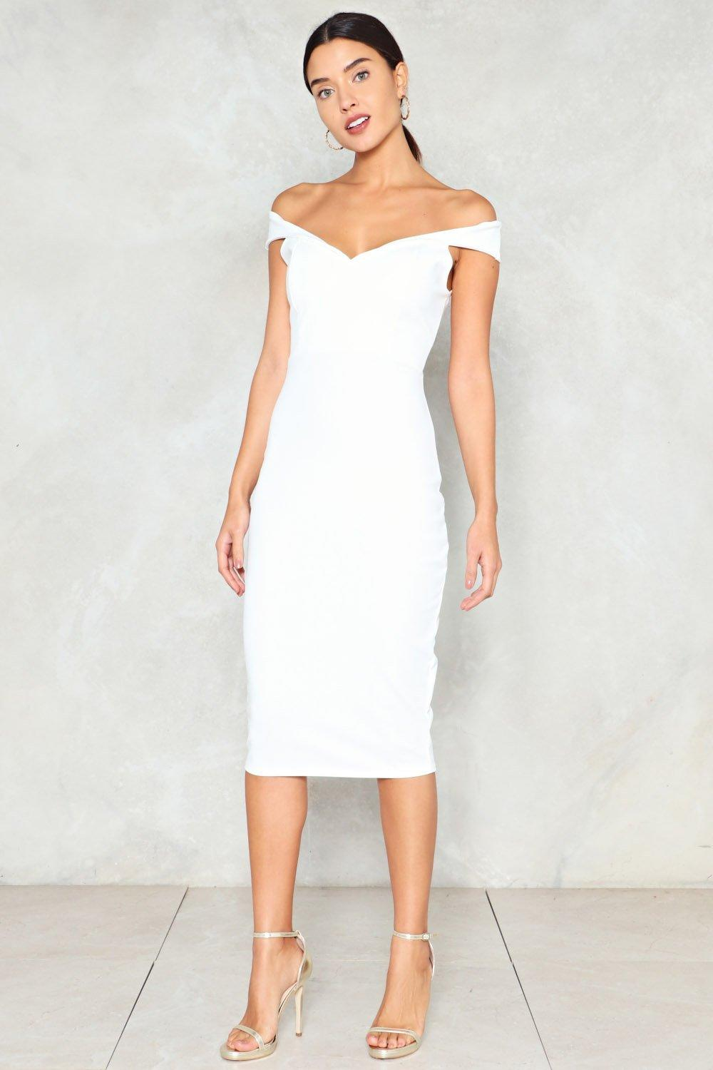 d0dd1eb677 Midi Ground Off-the-Shoulder Dress. Hover to zoom