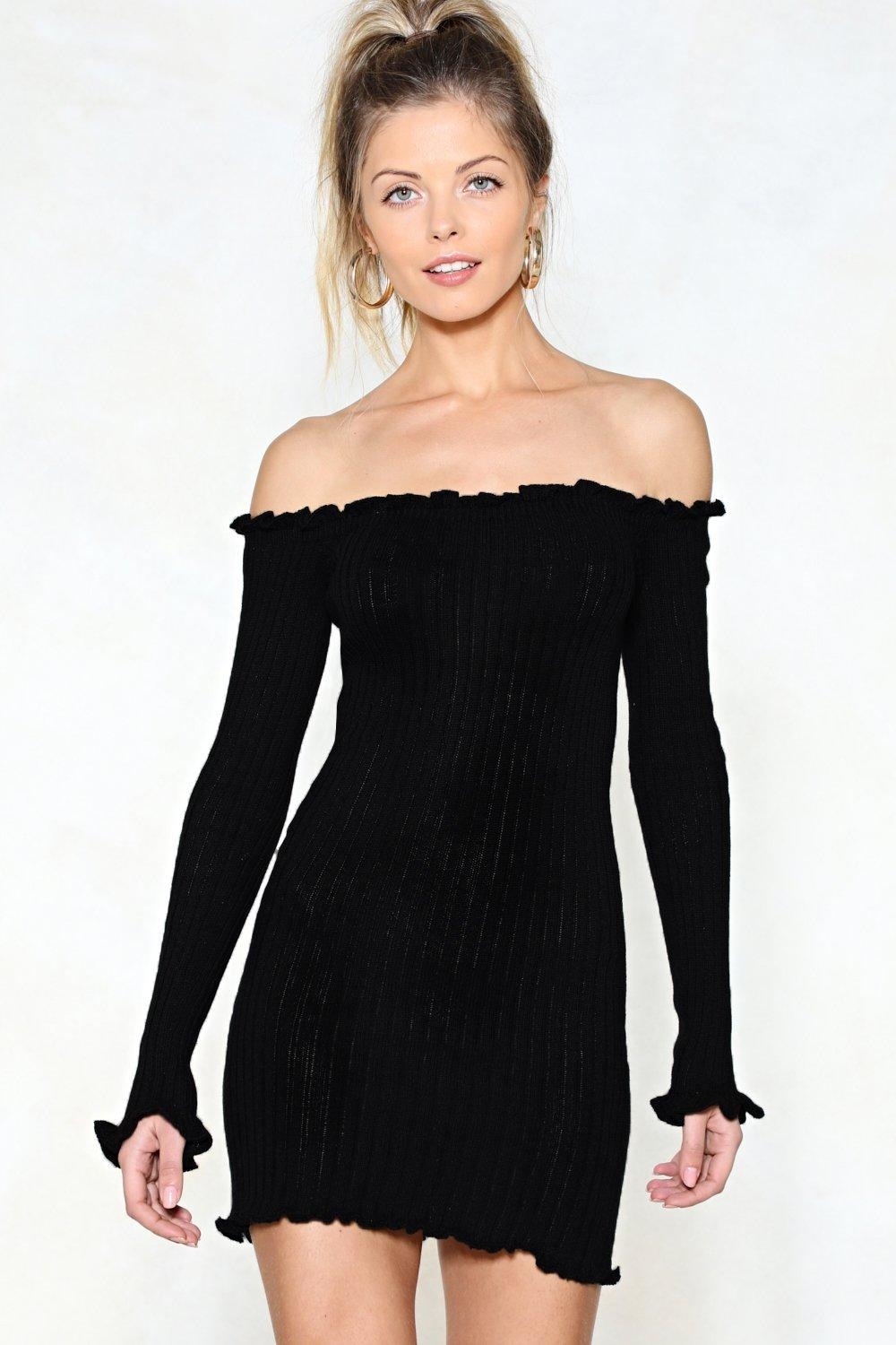 2562b6668cf8 Knit Wasn't Me Off-the-Shoulder Dress | Shop Clothes at Nasty Gal!