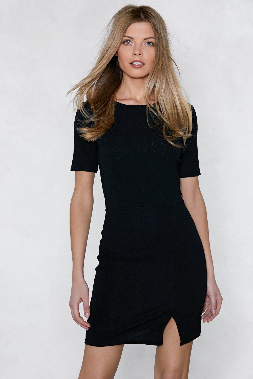 Bodycon Dress with Slit
