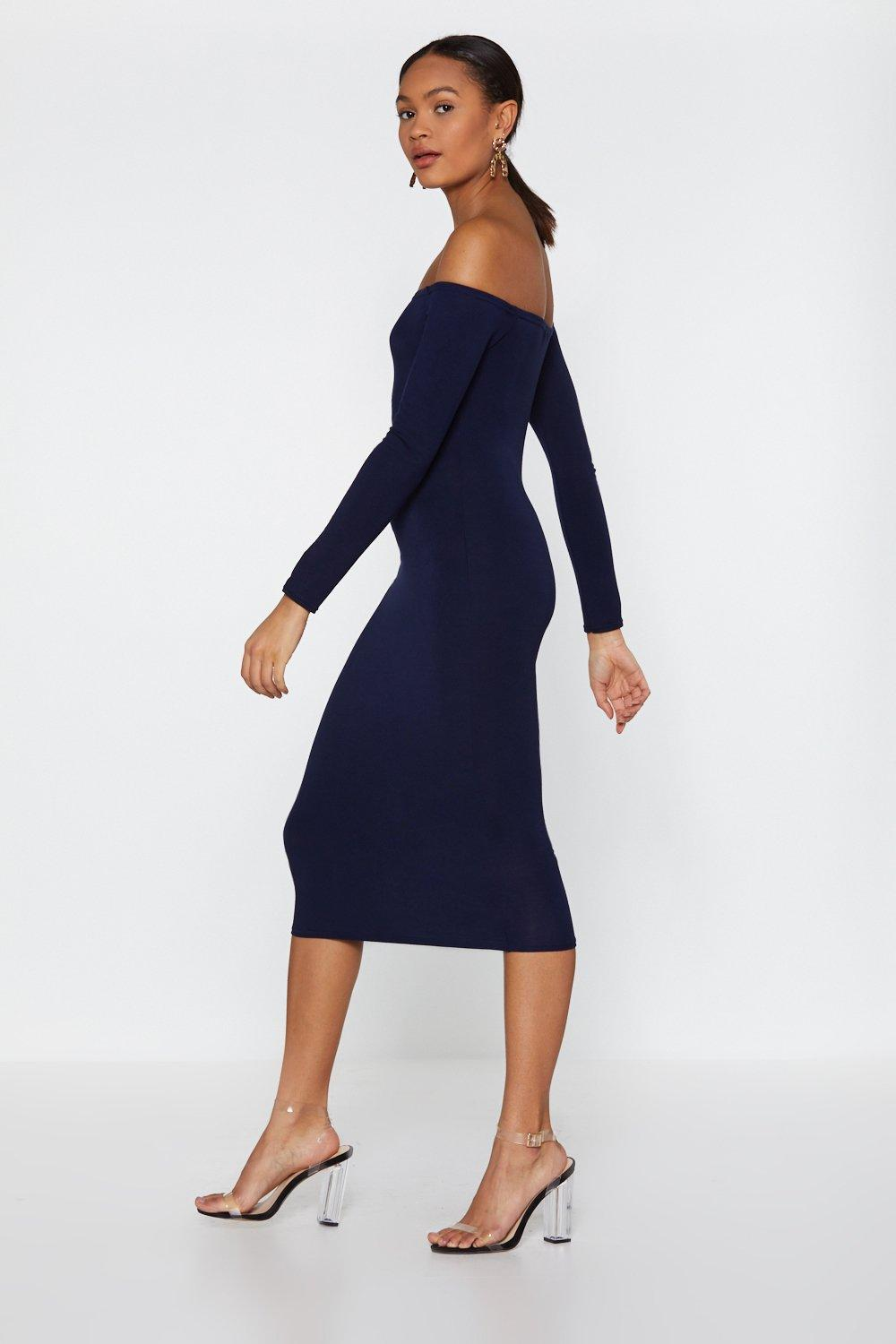 cb5fa2e3c05f In the Stretch Off-the-Shoulder Dress | Shop Clothes at Nasty Gal!