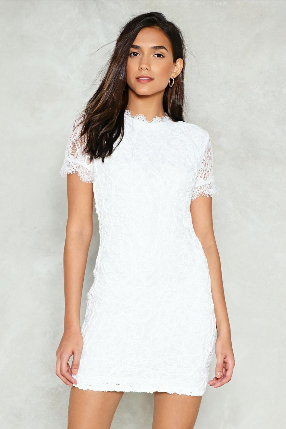 bf0bcaccbd3c First Time Ever I Saw Your Lace Mini Dress
