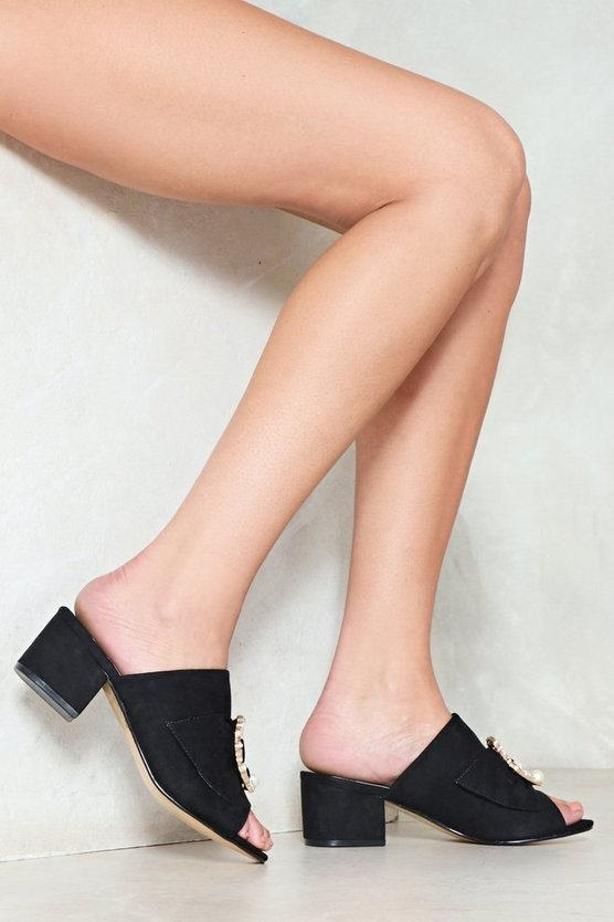 Look At Me Now Vegan Suede Mule by Nasty Gal