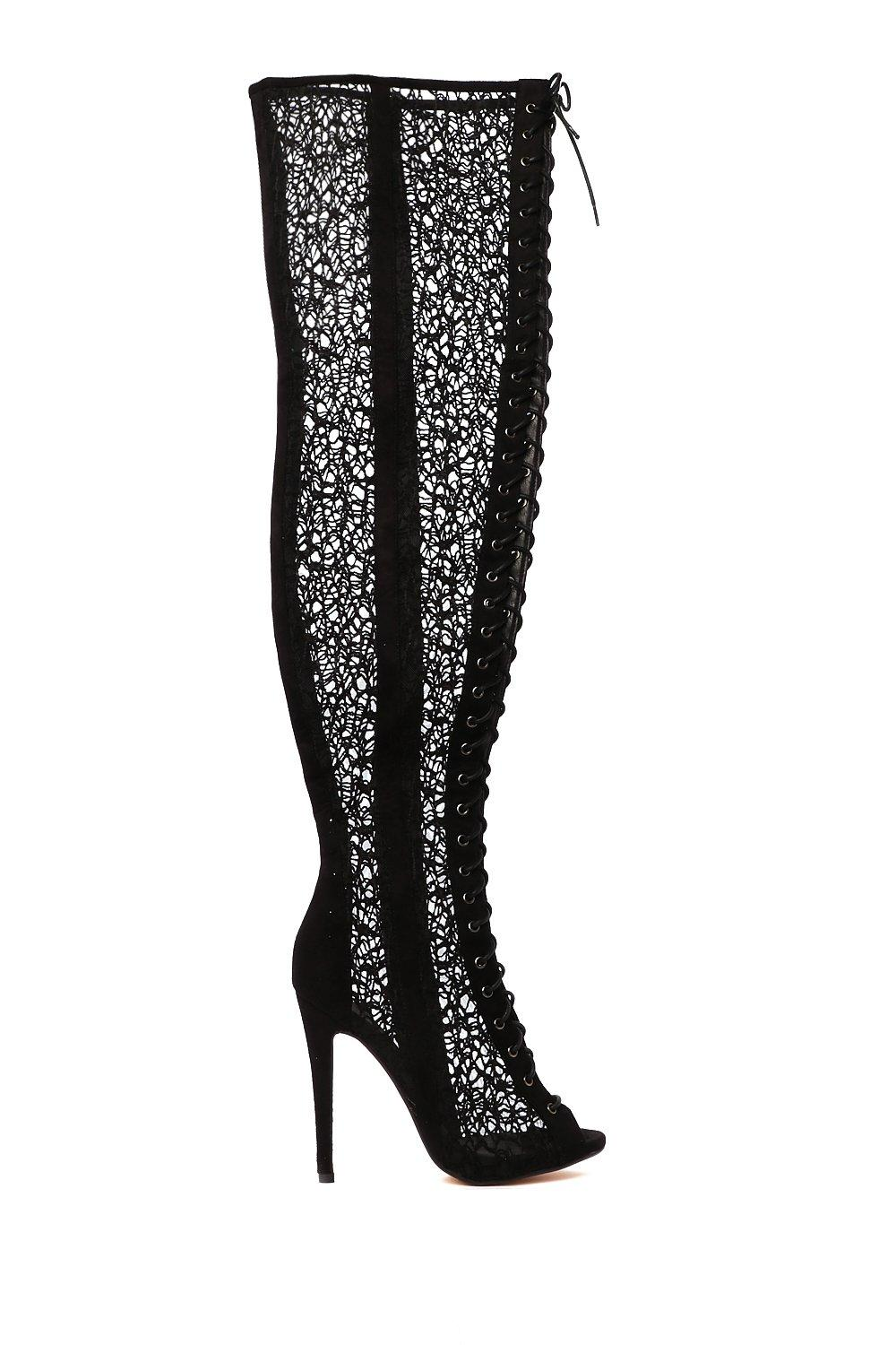7684763cc6 Lace Face Facts Thigh-High Boot | Shop Clothes at Nasty Gal!