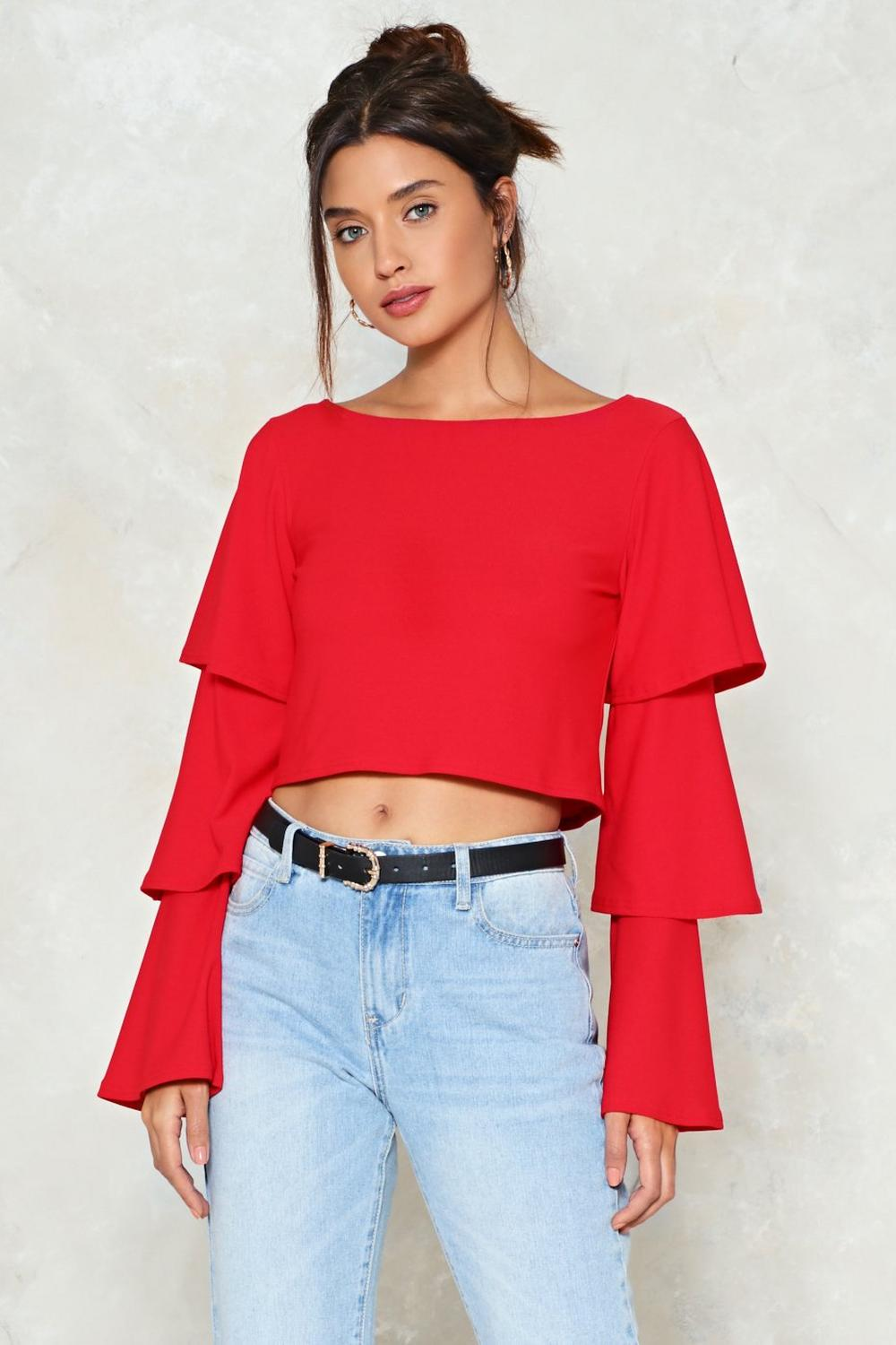 652f1e30afa Tier Me Out Ruffle Crop Top | Shop Clothes at Nasty Gal!