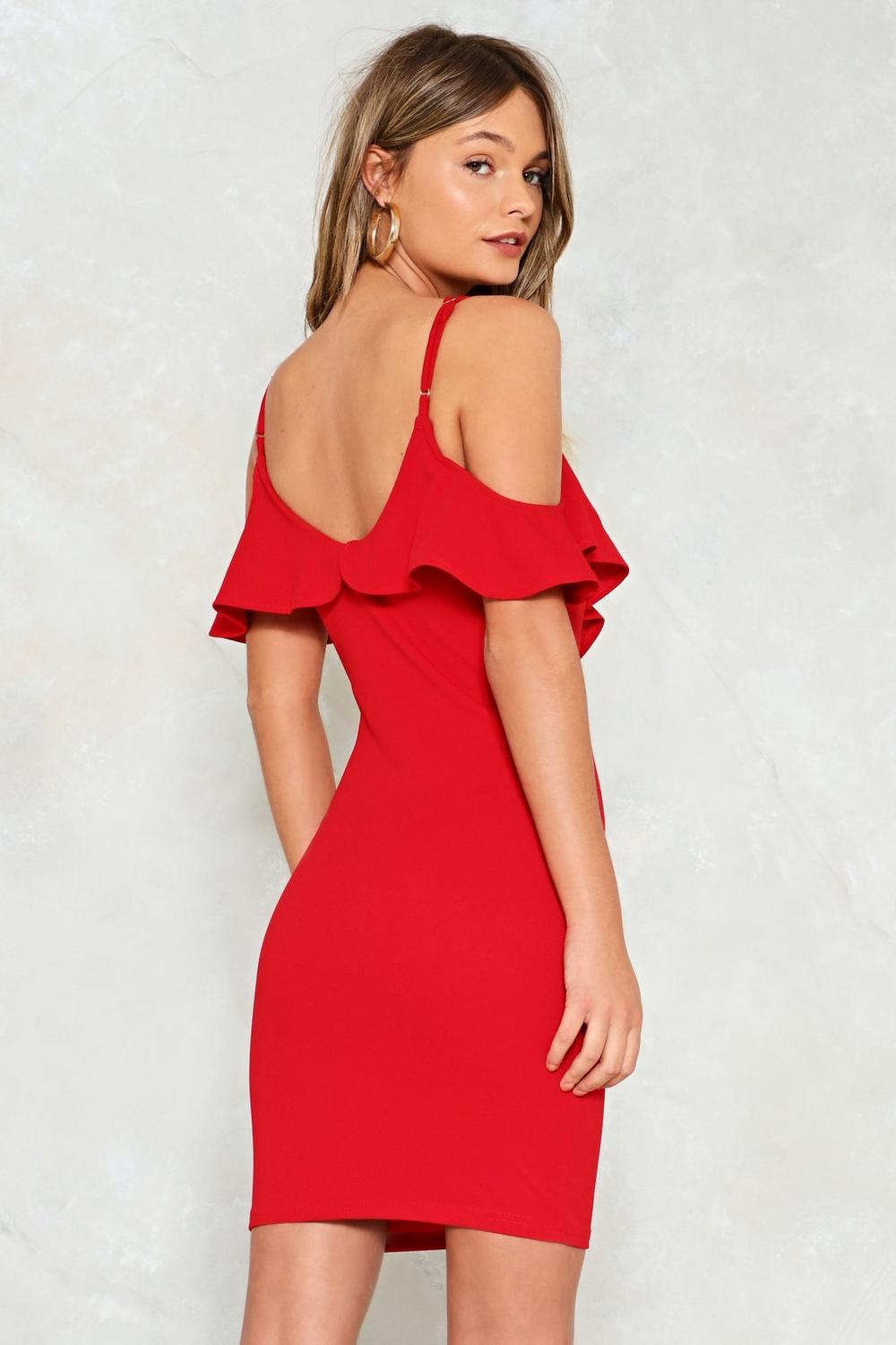 6cb4b1e295 Turn the Beat Around Cold Shoulder Dress | Shop Clothes at Nasty Gal!