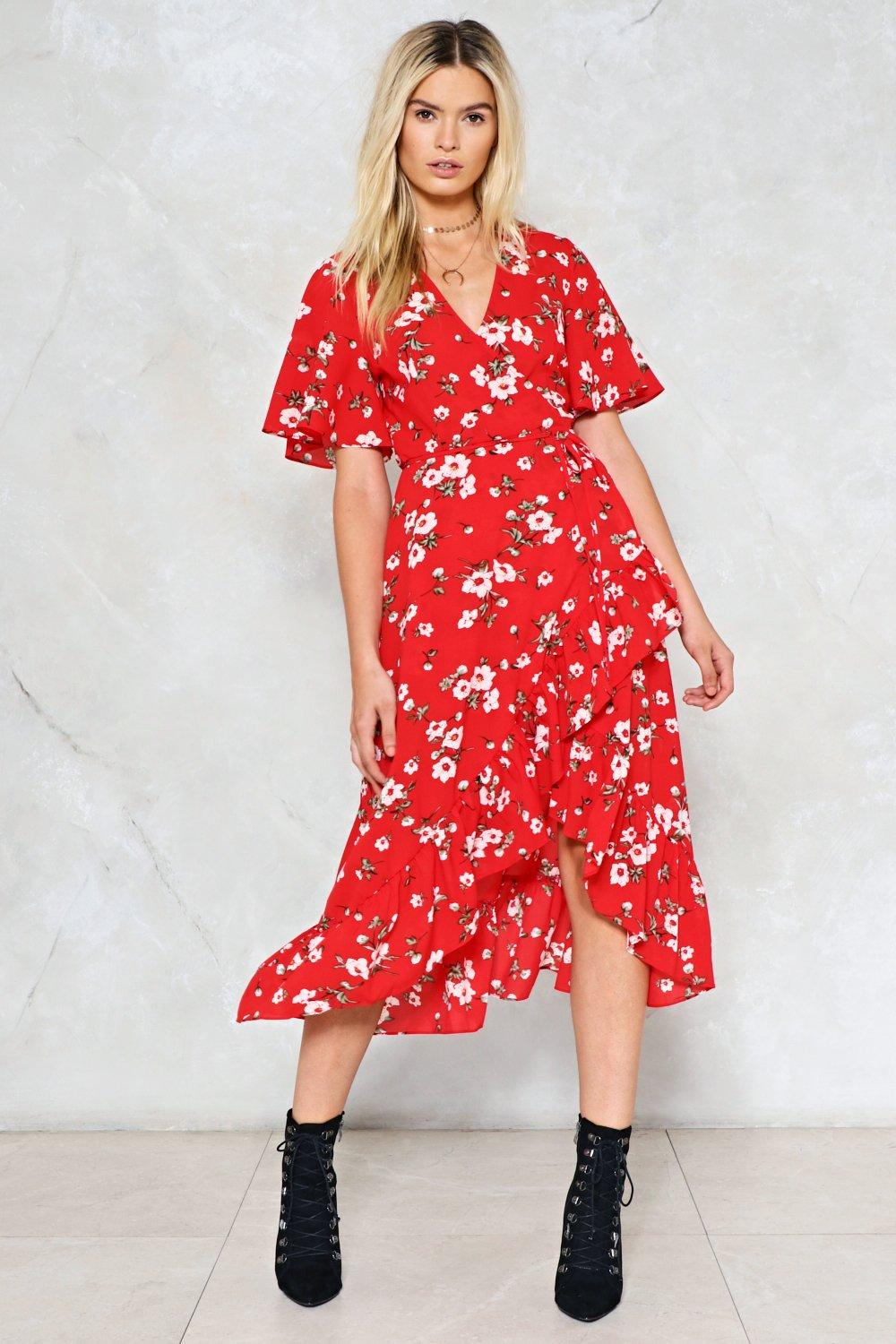 Long Run Floral Dress. Hover to zoom c13e36c93