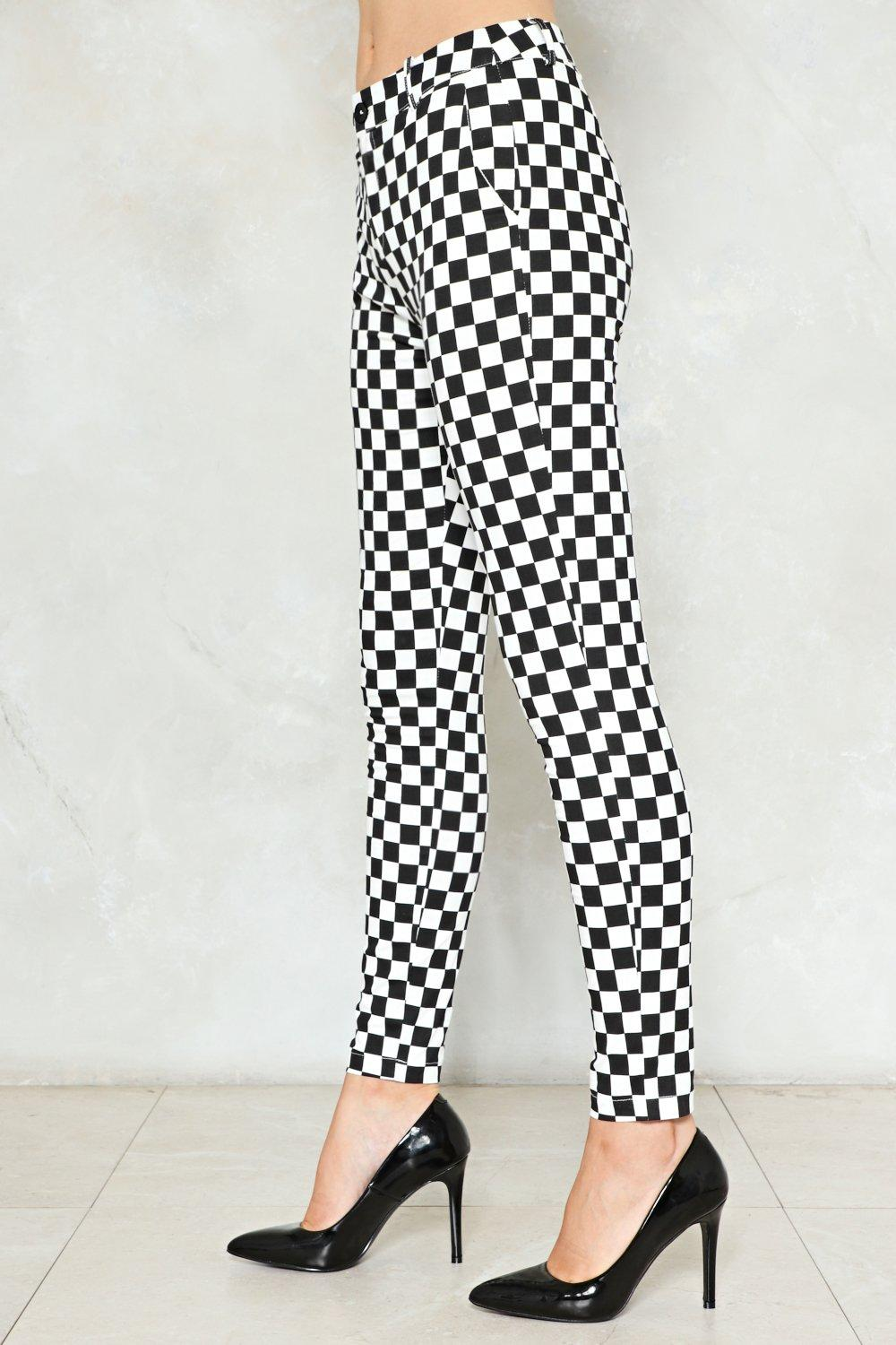 439af35e34 Check Please Checkerboard Pants