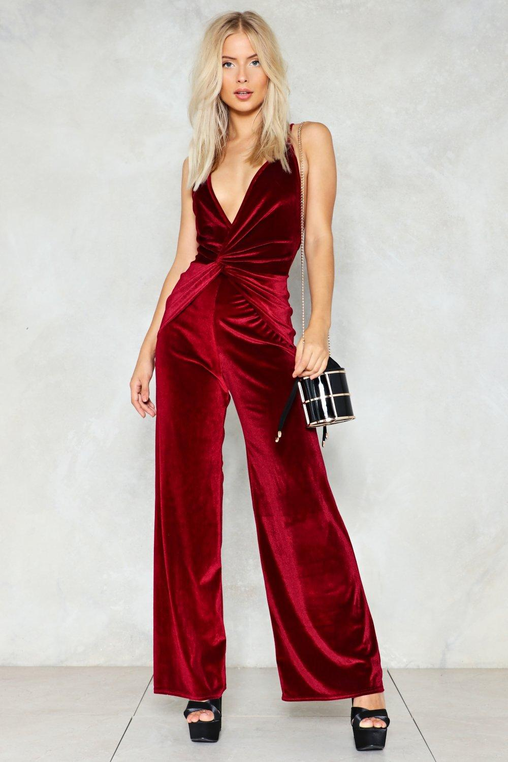 fad1f36a1fe Queen of the Night Velvet Jumpsuit