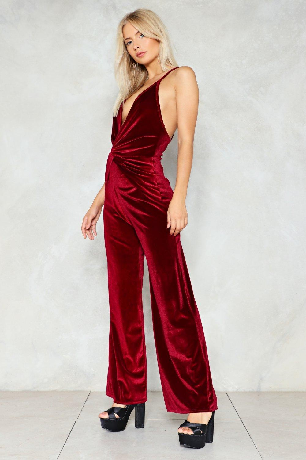 0f8b3eb7f44 Hover to zoom · Queen of the Night Velvet Jumpsuit