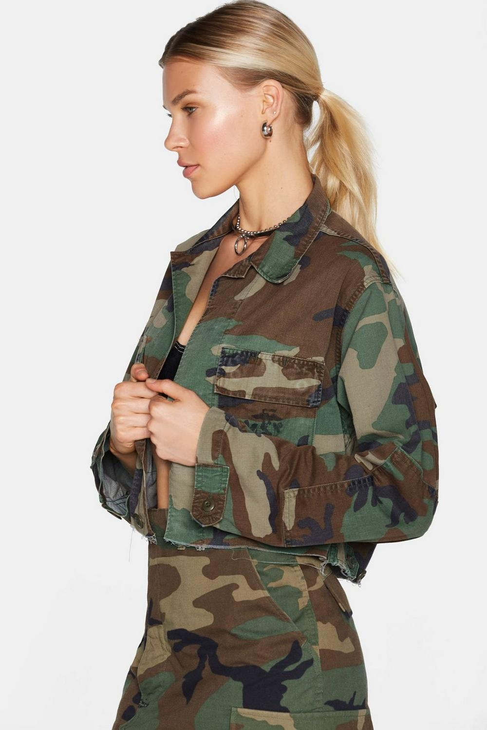 788651643329f After Party Vintage Bite the Bullet Camo Jacket | Shop Clothes at ...