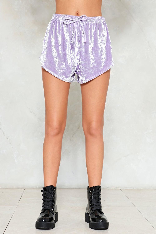 Smooth Sailin  Crushed Velvet Shorts  2c09a9082